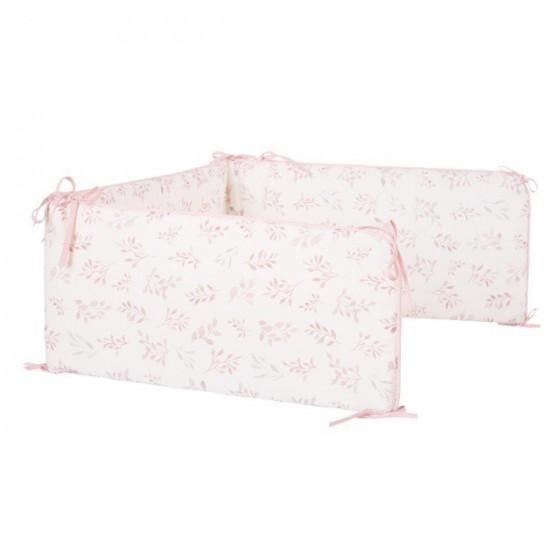 Samiboo - Ochraniacz do łóżeczka 120/60 listki z wyjmowanym wkładem