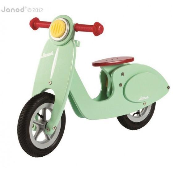 Rowerek biegowy miętowy Scooter, Janod