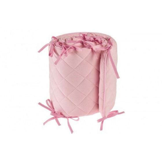 Samiboo - Pikowany ochraniacz Romby różowy do łóżeczka 140x70 cm (210cm)