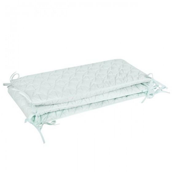 Samiboo - Pikowany ochraniacz Super Star mięta do łóżeczka 140x70 cm (210cm)