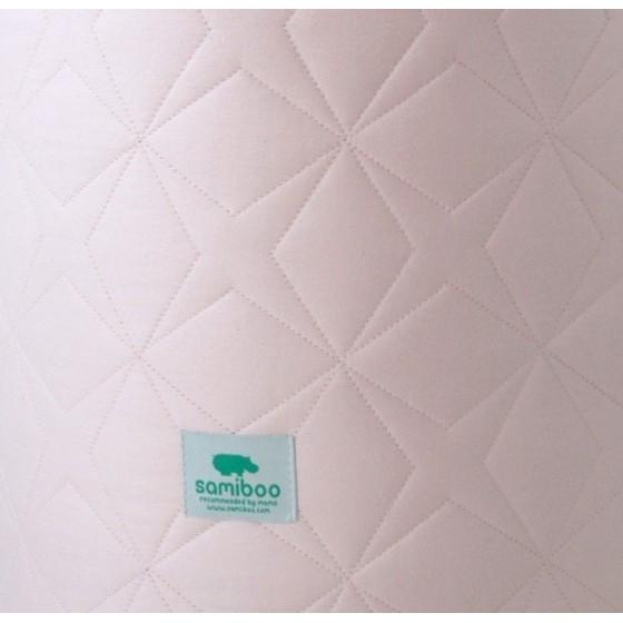 Samiboo - Pikowany ochraniacz Super Star różowy na całe łóżeczko 140x70cm (420cm)