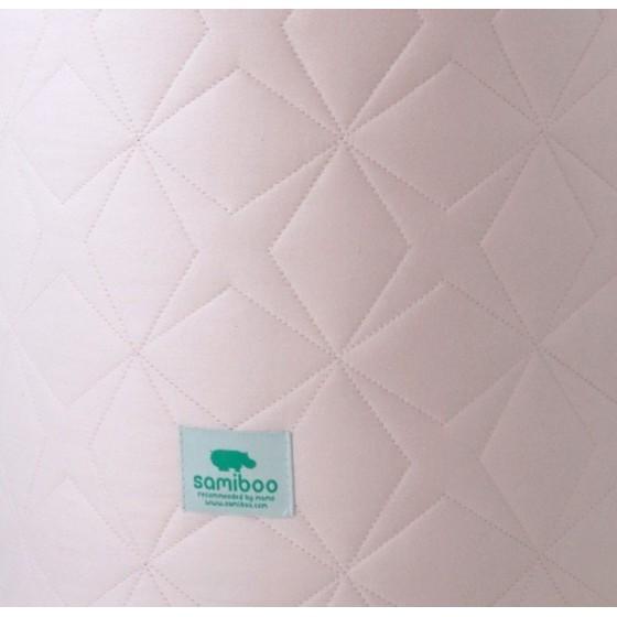 Samiboo - Pikowany ochraniacz Super Star różowy do łóżeczka 140x70 cm (210cm)