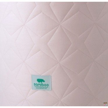 Samiboo - quilted pad Super Star pink crib 140x70 cm (210cm)