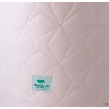 Samiboo - quilted pad Super Star pink crib 120x60 cm (180cm)