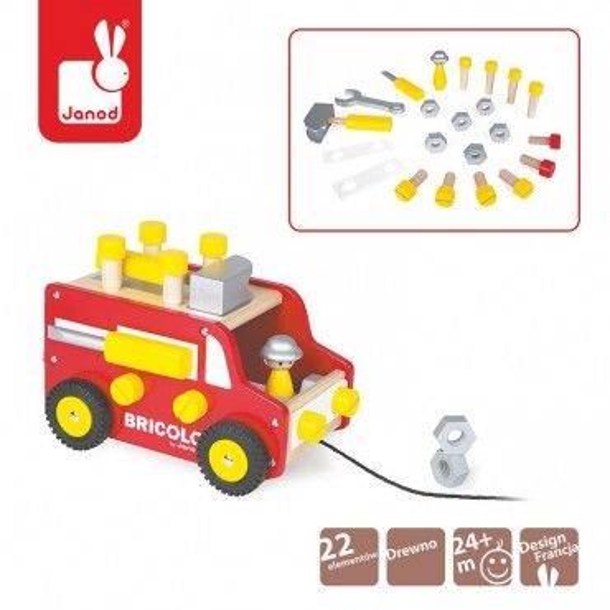 Ciężarówka z narzędziami do ciągnięcia Bricolo, Janod