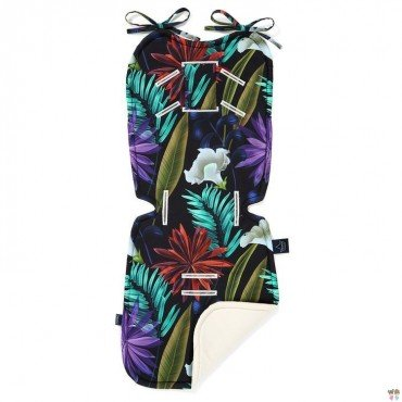 LA MILLOU THICK STROLLER PAD BOTANIC GARDEN RAFAELLO VELVET COLLECTION