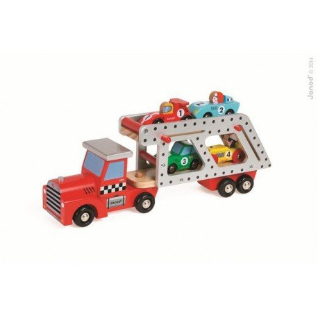 JANOD tow of large wooden toy cars 4