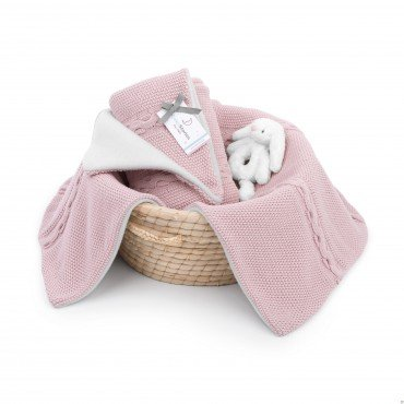 ColorStories - insulated blanket with fleece - hazy roses