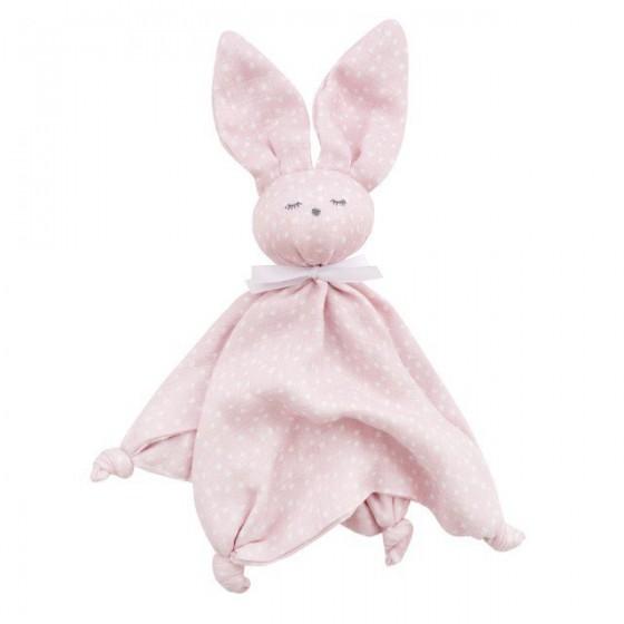 Samiboo - Bambusowy króliczek dou dou confetti różowe