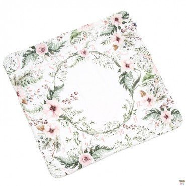 LA MILLOU MILESTONE BLANKET WILD BLOSSOM POWDER PINK VELVET COLLECTION