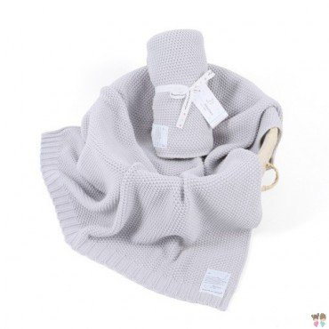 ColorStories - Blanket CottonClassic M - light gray