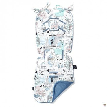 LA MILLOU THICK STROLLER PAD LA MILLOU FAMILY VOL.II DENIM VELVET COLLECTION