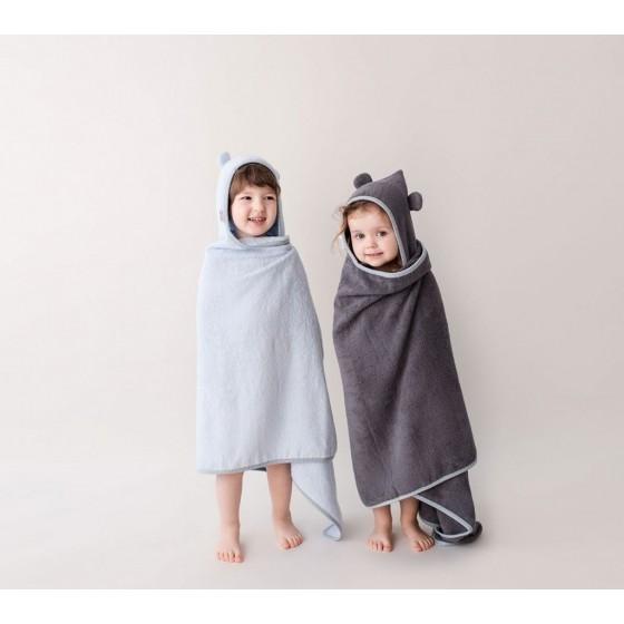 LULLALOVE BAMBOO TOWEL with handles blue 130x65 cm