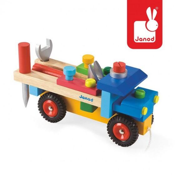JANOD Ciężarówka do składania drewniana duża
