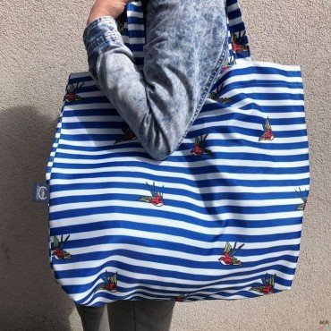 LA MILLOU SHOPPER BAG BARBER SAILOR STRIPS