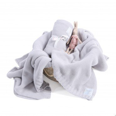 ColorStories - CottonClassic Blanket L - light gray