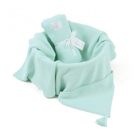 ColorStories - Bamboo Blanket with hood - mint