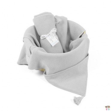 ColorStories - Bamboo Blanket with hood - light gray