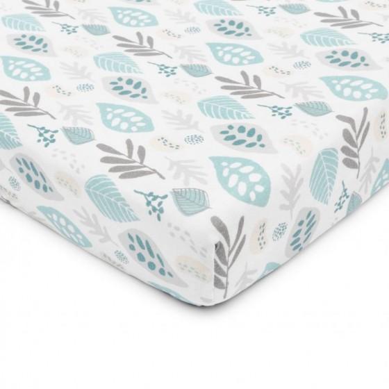 ColorStories - Prześcieradło do łóżeczka 120/60cm - Floral turkus