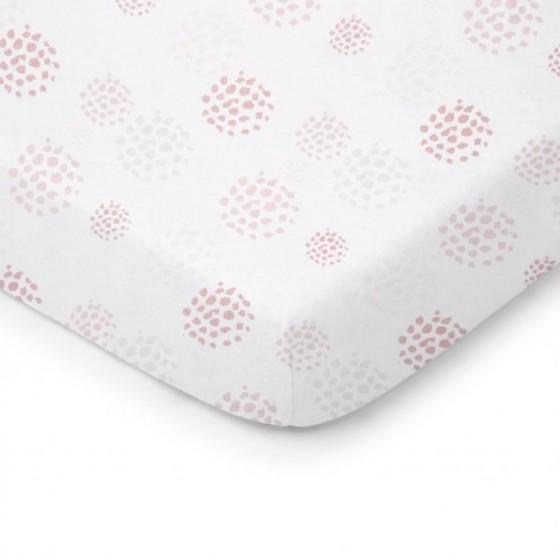 ColorStories - Prześcieradło do łóżeczka 120/60cm - Dots róż