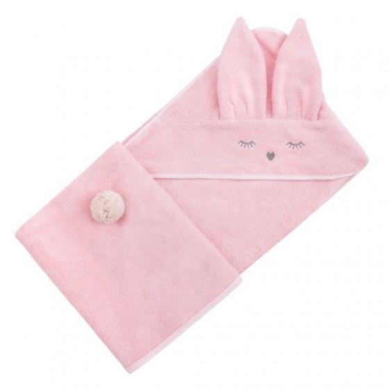 Samiboo - Bambusowy ręcznik różowy Króliczek