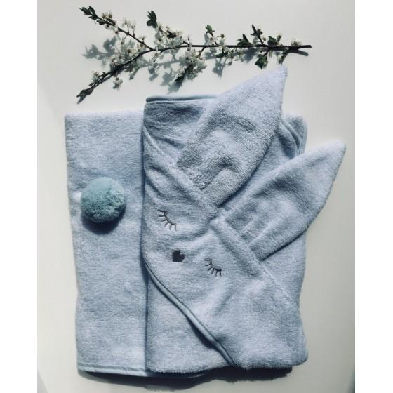 Samiboo - Bambusowy ręcznik błękitny Króliczek