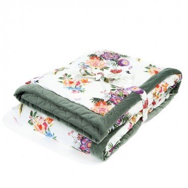LA MILLOU ADULT BLANKET 140x200cm PARADISE KHAKI VELVET COLLECTION
