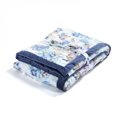 LA MILLOU ADULT BLANKET 140x200cm IRIS SORBET HARVARD BLUE VELVET COLLECTION