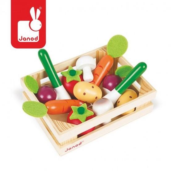 Vegetables JANOD wooden 12 pcs. Skrzyneczce