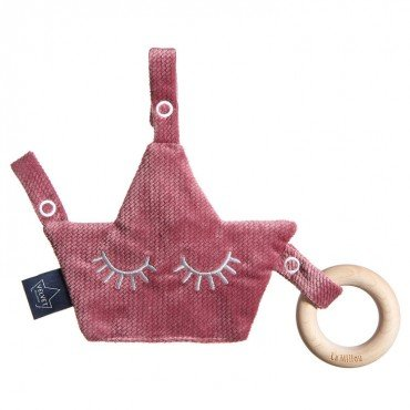 LA MILLOU VELVET COLLECTION ZAWIESZKA GRYZAK PACIFIER COMBO MULBERRY