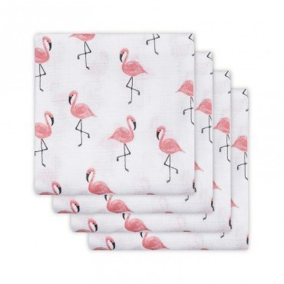 Jollein Otulacze 70x70cm Flamingi - 4 sztuki