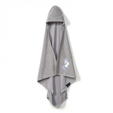 La Millou BY MAJA BOHOSIEWICZ - TOWEL BAMBOO SOFT - NEWBORN - GREY - UNICORN RAINBOW KNIGHT