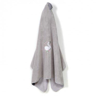 LA MILLOU RĘCZNIK BAMBOO SOFT KID GREY MOONLIGHT SWAN