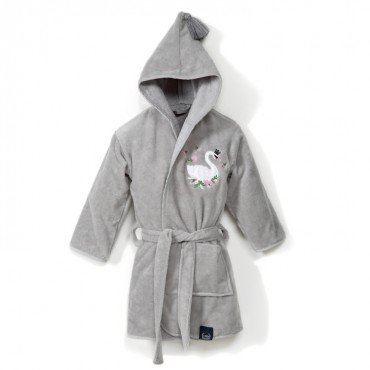 LA MILLOU SZLAFROK BAMBOO SOFT MEDIUM GREY MOONLIGHT SWAN