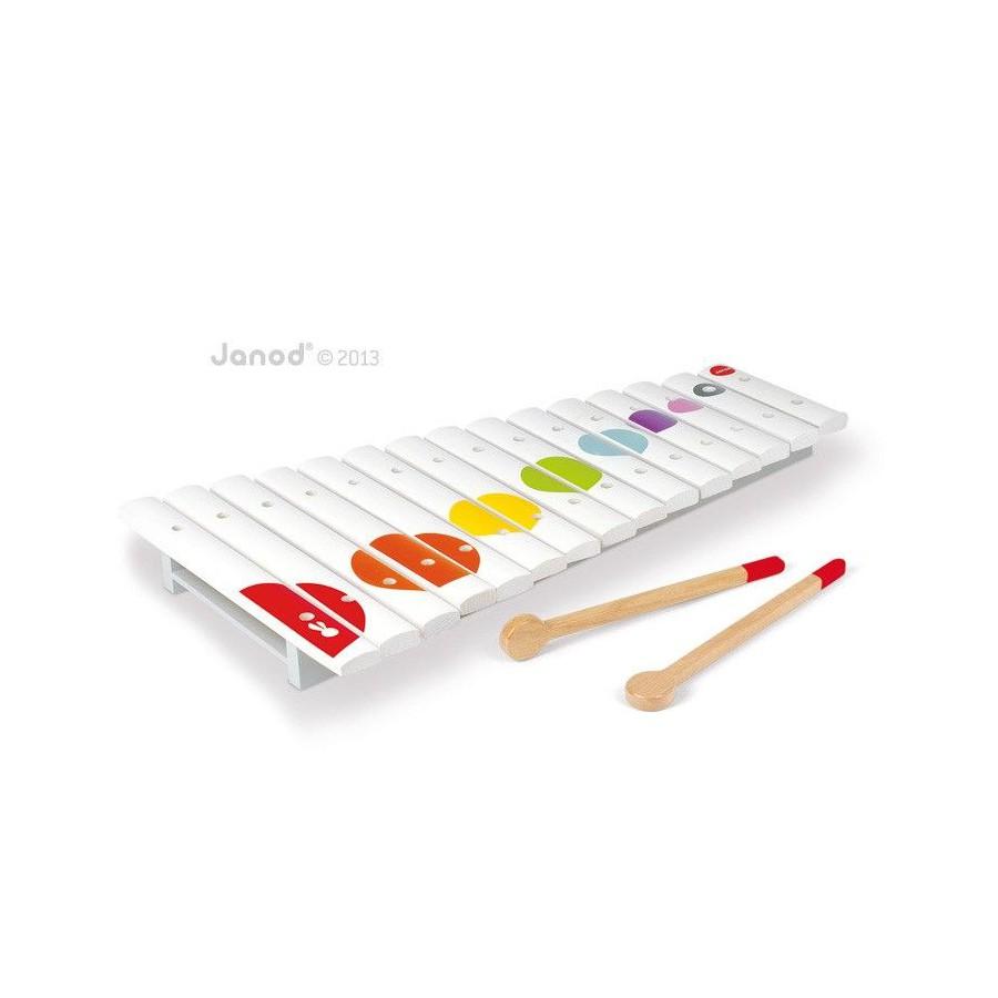 Janod, Glockenspiels 15 tones wooden Confetti
