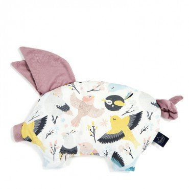 LA MILLOU PODUSIA SLEEPY PIG CUTE BIRDS LAVENDER VELVET COLLECTION