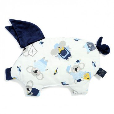 LA MILLOU PODUSIA SLEEPY PIG HELLO WORLD ROYAL NAVY VELVET COLLECTION