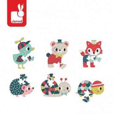 JANOD Mini Baby puzzle Forest 12 elements