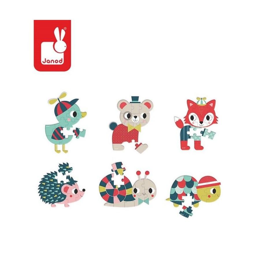 Mini puzzle Baby Forest 12 elementów opakowanie zbiorcze 12
