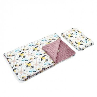 LA MILLOU ZESTAW KID KIT CUTE BIRDS LAVENDER VELVET COLLECTION