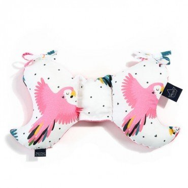 LA MILLOU PODUSZKA ANGEL'S WINGS CANDY PARROT FLORIDA PINK VELVET COLLECTION