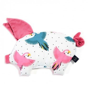 LA MILLOU PODUSIA SLEEPY PIG CANDY PARROT FLORIDA PINK VELVET COLLECTION