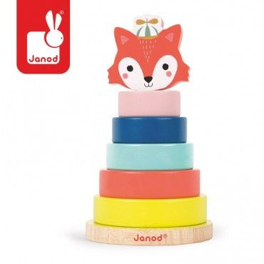 JANOD wooden pyramid Lisek Baby Forest