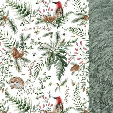 LA MILLOU KOC, NARZUTA 140x200cm FOREST KHAKI VELVET COLLECTION