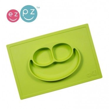 EZPZ silicone plate washer 2in1 Happy Mat Green