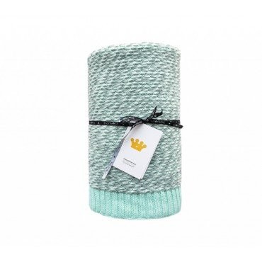 LULLALOVE WARM BLANKET COTTON WOOL WITH MINT