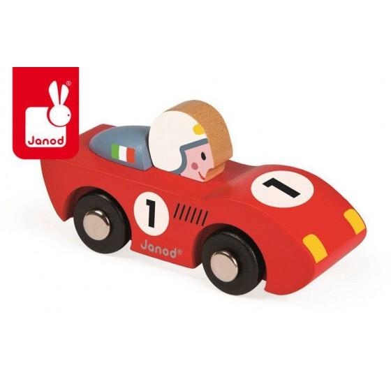 JANOD Wyścigówka drewniana Speed czerwona