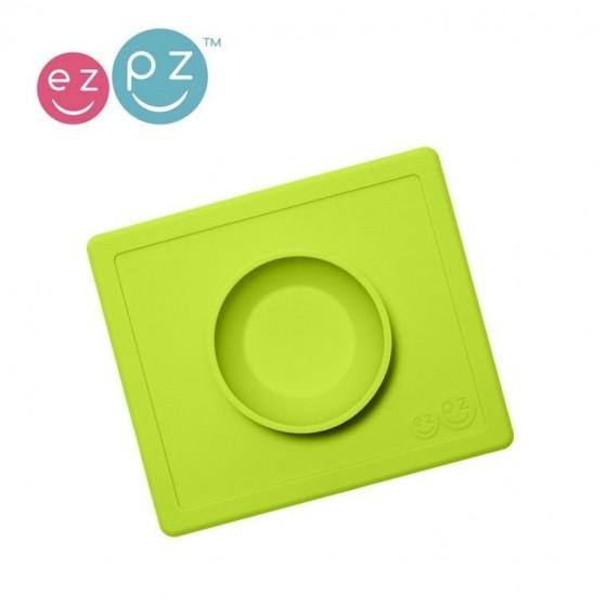 EZPZ Silikonowa miseczka miska z podkładką 2w1 Happy Bowl zielona