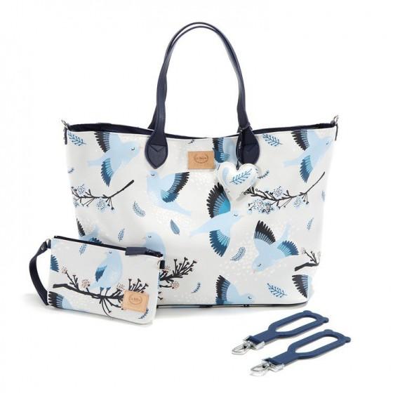 La Millou BY KATARZYNA ZIELIŃSKA LA MILLOU FEERIA - BAG LARGE WITH CLUTH - BLUE BIRDS - PREMIUM
