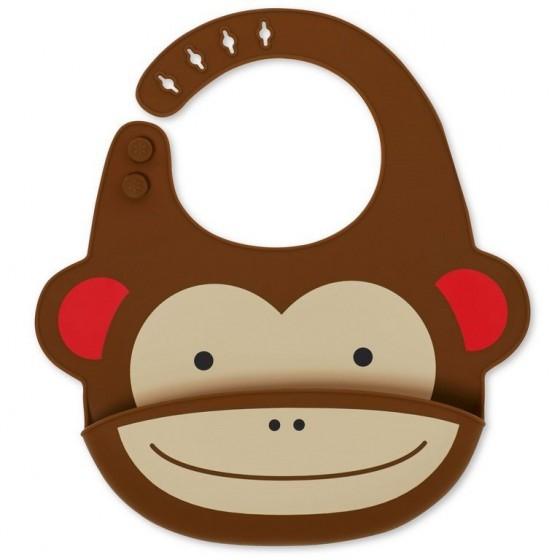Skip Hop Silikonowy Śliniak Zoo Małpa